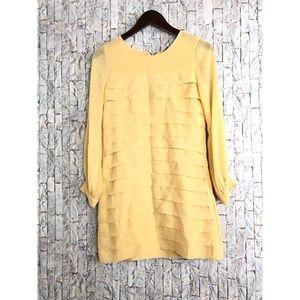 TopShop Yellow  tiered Ruffle Dress